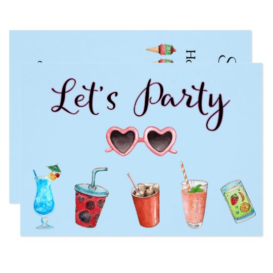 Let's Party Summer Soiree Card