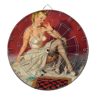Lets Play a Game - Retro Pinup Girl Dartboard