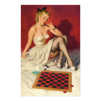 Lets Play a Game - Retro Pinup Girl Stationery