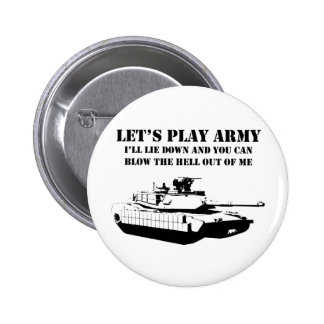 Let's Play Army 6 Cm Round Badge