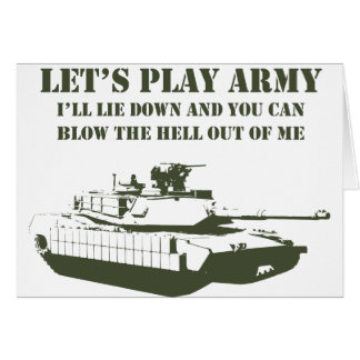Let's Play Army Card