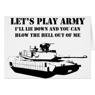 Let's Play Army Greeting Card