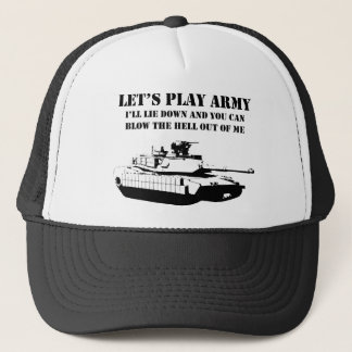 Let's Play Army Trucker Hat