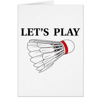 Let's Play Badminton Card