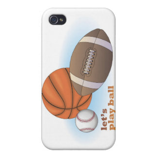 Let's play ball: baseball, basketball & football case for the iPhone 4