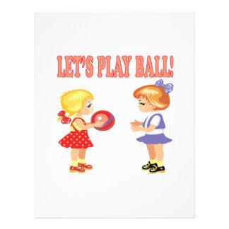 Lets Play Ball Custom Flyer