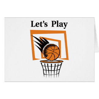 Let's Play Basketball Greeting Card