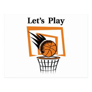 Let's Play Basketball Postcard