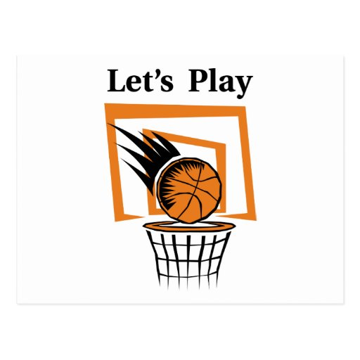 Let's Play Basketball Post Cards
