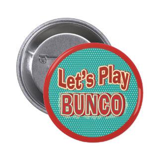 Let's Play Bunco 6 Cm Round Badge