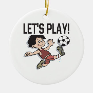 Lets Play Christmas Ornament