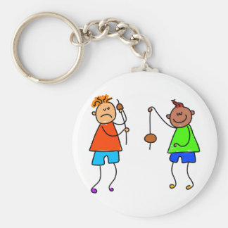Lets Play Conkers Basic Round Button Key Ring