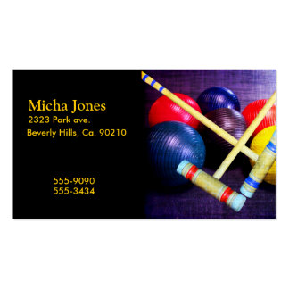 Let's Play Croquet Grunge Style Pack Of Standard Business Cards