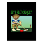 Lets Play Croquet Postcard