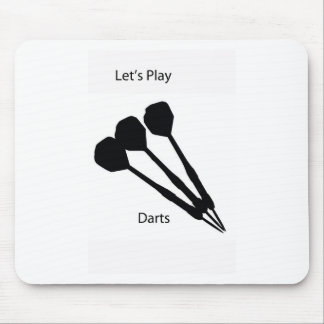 Let's play darts mouse mat