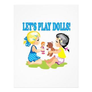 Lets Play Dolls Full Color Flyer
