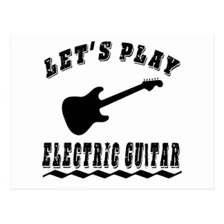 Let's Play Electric Guitar Postcard