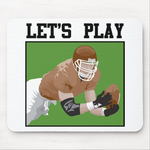 Let's Play Football Mousepads