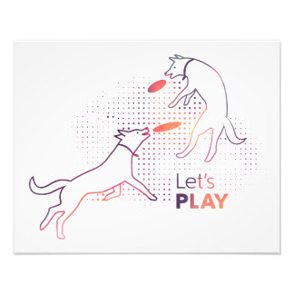 Let's Play Frisbee Dogs Print