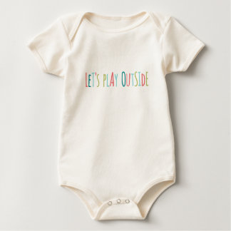 Let's Play Outside Baby Bodysuit