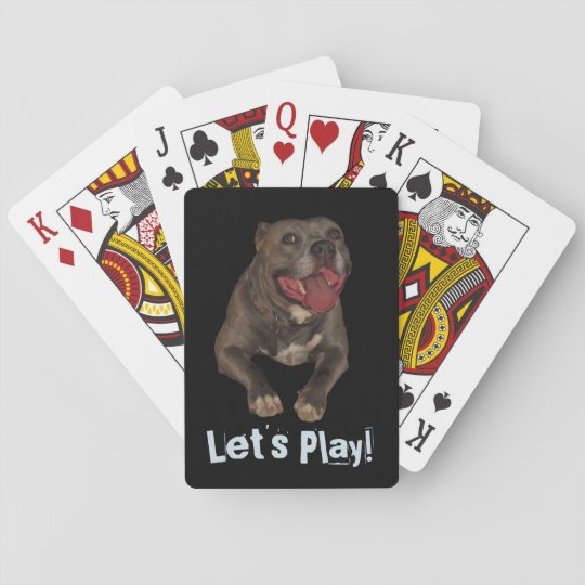 Let's Play Pitbull Playing Cards
