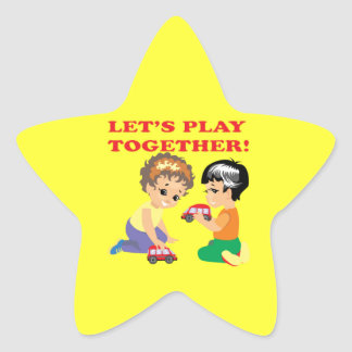 Lets Play Together 2 Star Sticker