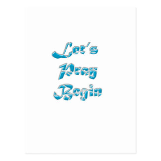 Lets Pray Begin is the best design for everyone Postcard
