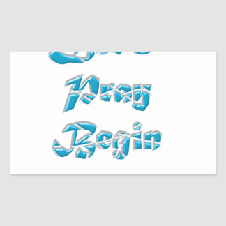 Lets Pray Begin is the best design for everyone Rectangular Sticker