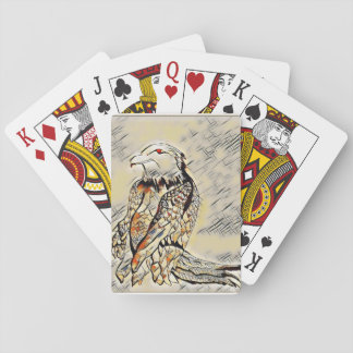 Let's Prey Eagle Mosaic Playing Cards