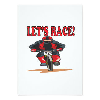 Lets Race 2 13 Cm X 18 Cm Invitation Card
