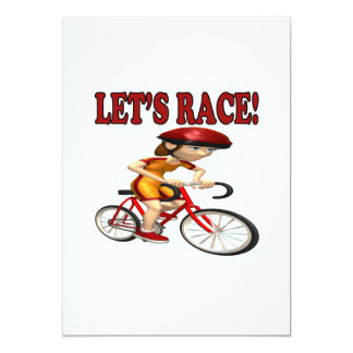 Lets Race 3 13 Cm X 18 Cm Invitation Card