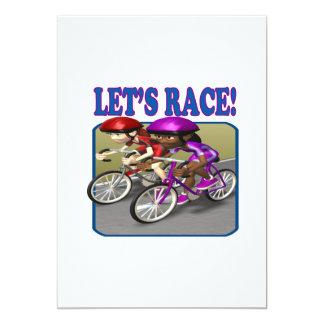 Lets Race 4 13 Cm X 18 Cm Invitation Card