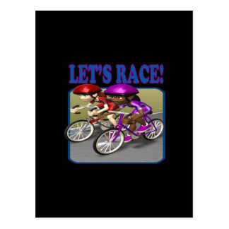 Lets Race 4 Postcard