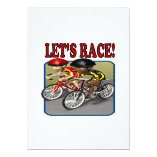 Lets Race 13 Cm X 18 Cm Invitation Card