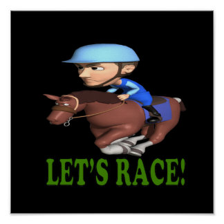 Lets Race Print