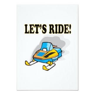 Lets Ride 13 Cm X 18 Cm Invitation Card