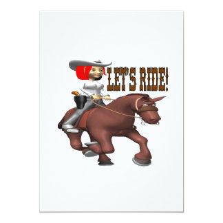 Lets Ride 4 13 Cm X 18 Cm Invitation Card