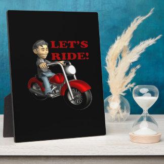 Lets Ride 5 Display Plaque