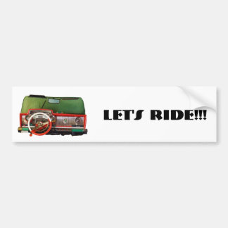 Let's Ride!!! Bumper Sticker