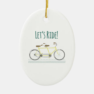 Lets Ride Ceramic Oval Decoration