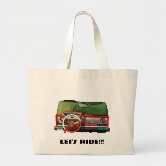 Let's Ride!!! Large Tote Bag