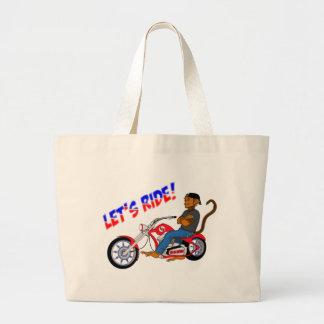 Let's Ride! Large Tote Bag