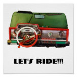 """Let's Ride """"Toy""""-o-la Style Posters"""