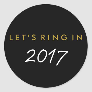 """""""Let's Ring In"""" New Year's Eve Favour Sticker"""