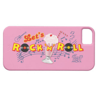 Let's Rock 'n' Roll Iphone5 Case Med Pink iPhone 5 Cases