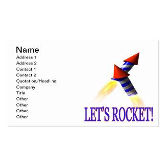 Lets Rocket Pack Of Standard Business Cards