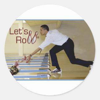 Lets Roll Osama bin Laden Round Sticker