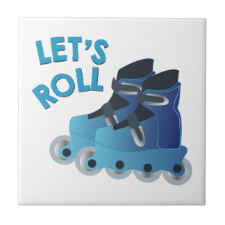 Lets Roll Small Square Tile