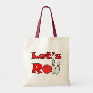 Let's Roll Tote Bag - Bowling Party Favors