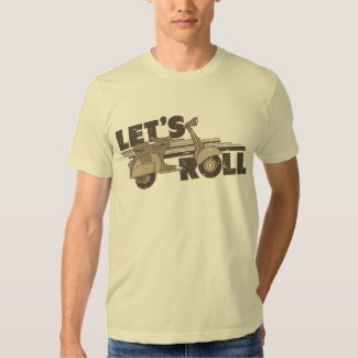 Let's Roll (Vintage style scooter inspired tee)